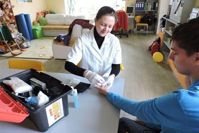 Basismedizinische Versorgung von Flüchtlingen in der Ukraine