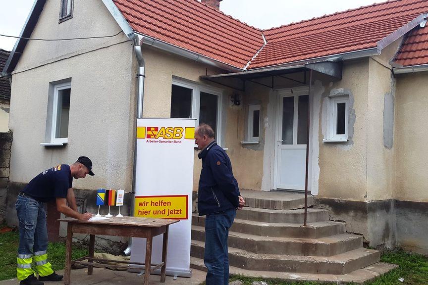 Neues Haus für Familien in Bosnien, hier: Domaljevac