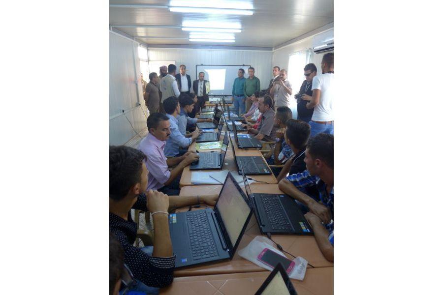 Computerraum im Gemeindezentrum in Berseve Nordirak