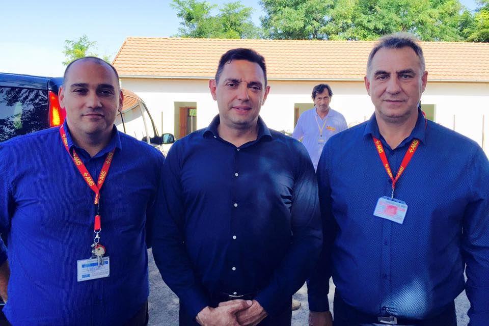 Ungarische Kollegen mit dem serbischen Sozialminister Aleksandra Vulin in Subotica