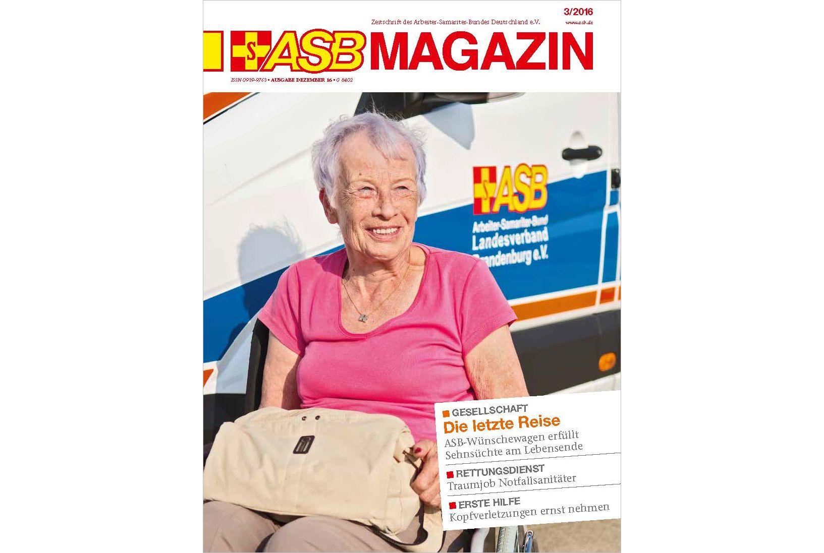 Das neue ASB Magazin ist erschienen