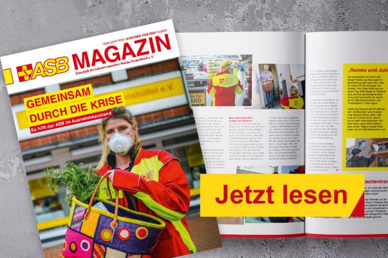 Die Juni-Ausgabe des ASB Magazins ist erschienen