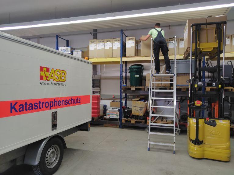 ASB liefert Hilfsgüter nach Unwetterkatastrophe