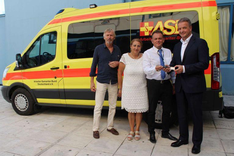 ASB spendet Rettungswagen für Griechenland