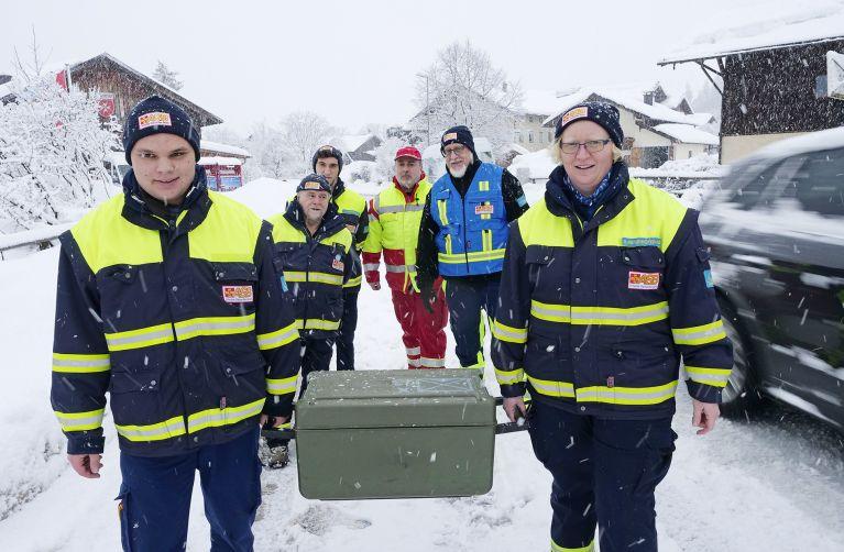 Samariter im Einsatz gegen das Schneechaos