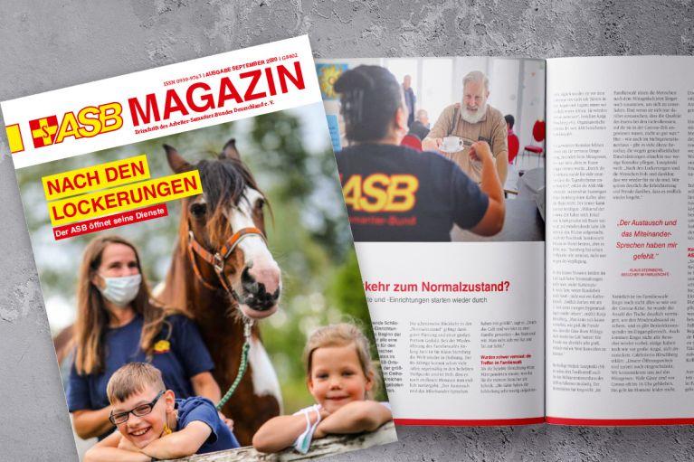 Die Septemberausgabe des ASB Magazins ist erschienen