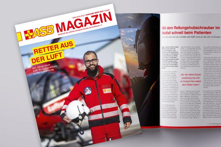 Die März-Ausgabe des ASB Magazins ist erschienen