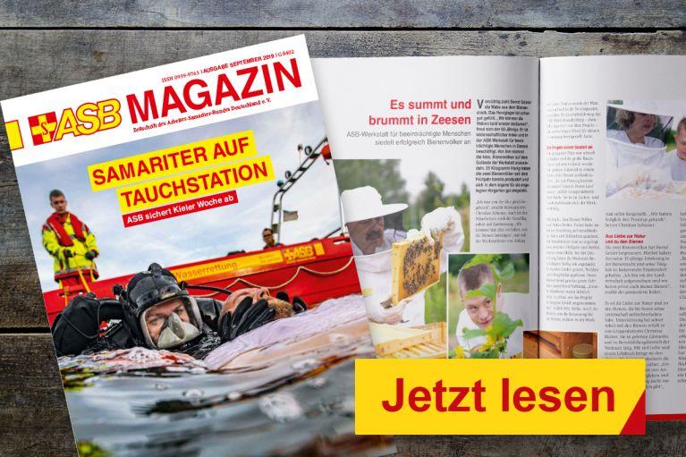 Die September-Ausgabe des ASB Magazins ist erschienen