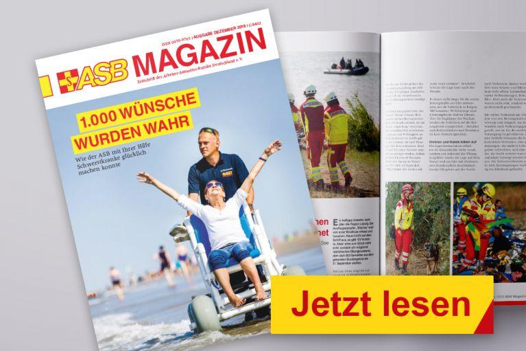 Die Dezember-Ausgabe des ASB Magazins ist erschienen